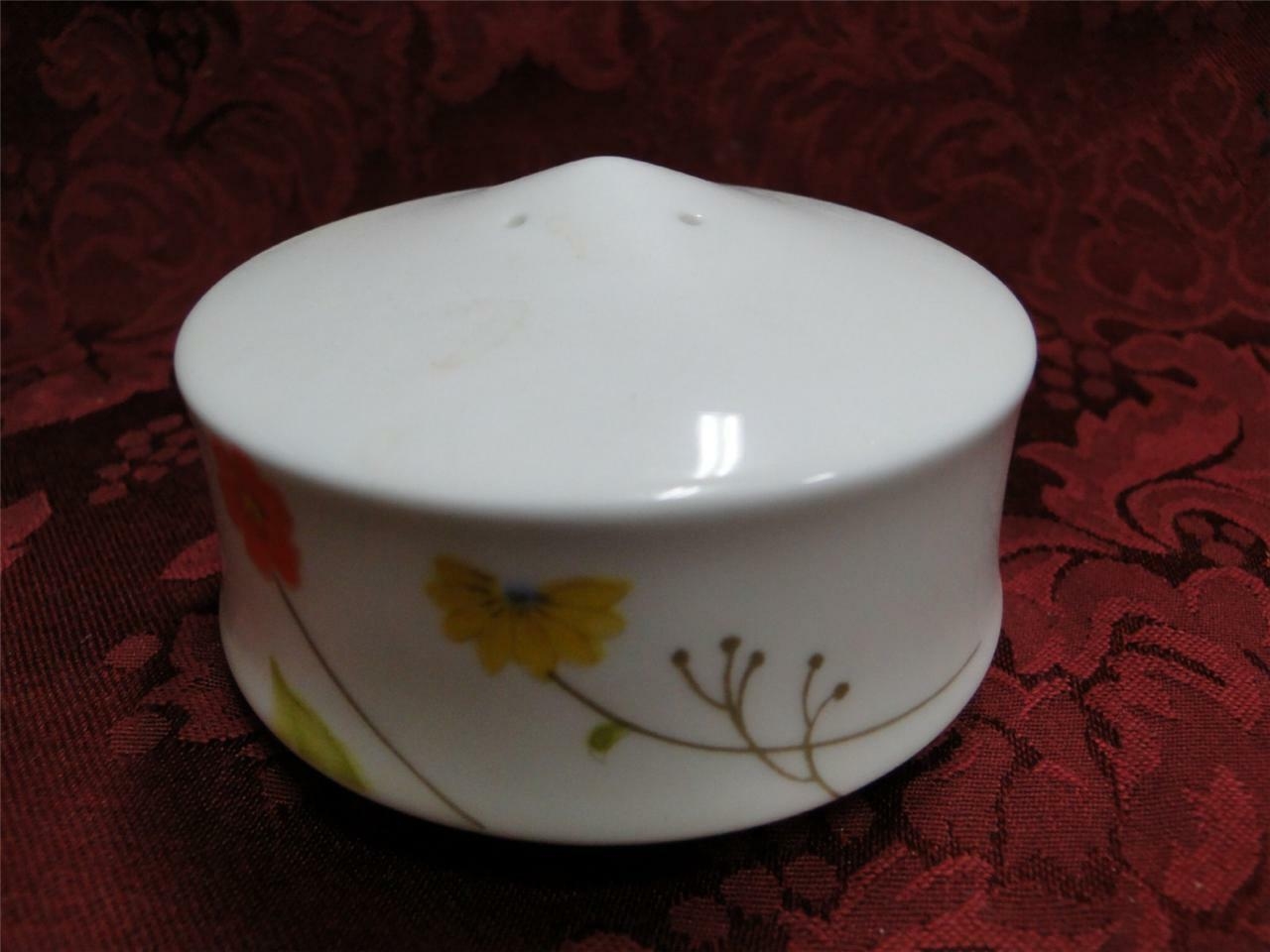 Mikasa Just Flowers, pink/blue/yellow flowers: Salt Shaker 4 Holes