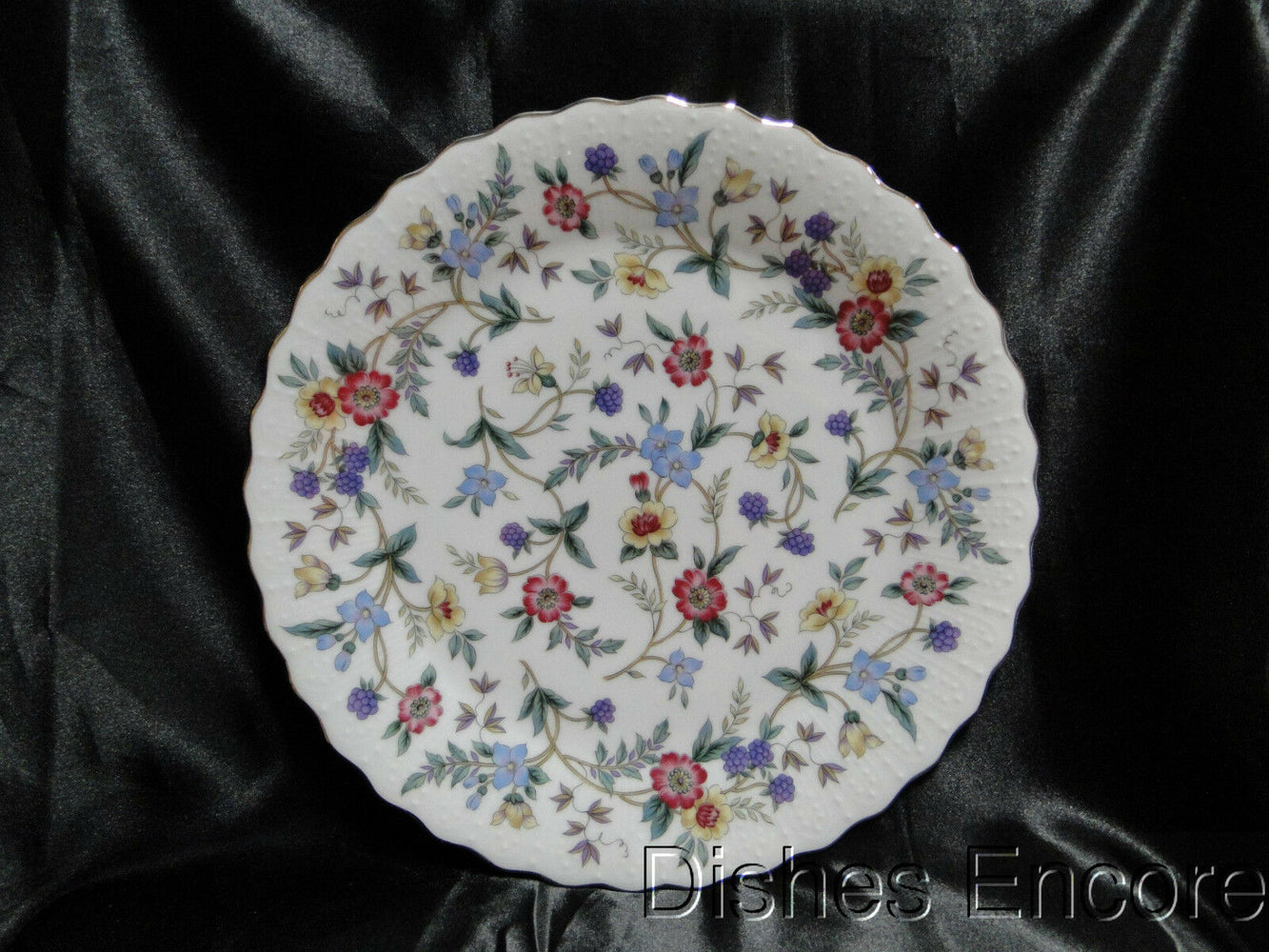 Sadek Andrea Wild Flowers, Multicolored Floral, Scalloped: Dinner Plate, 10 1/2""