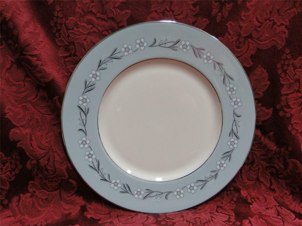 Franciscan Del Rio, Blue with Platinum (USA): Salad Plate (s) 8 1/4""