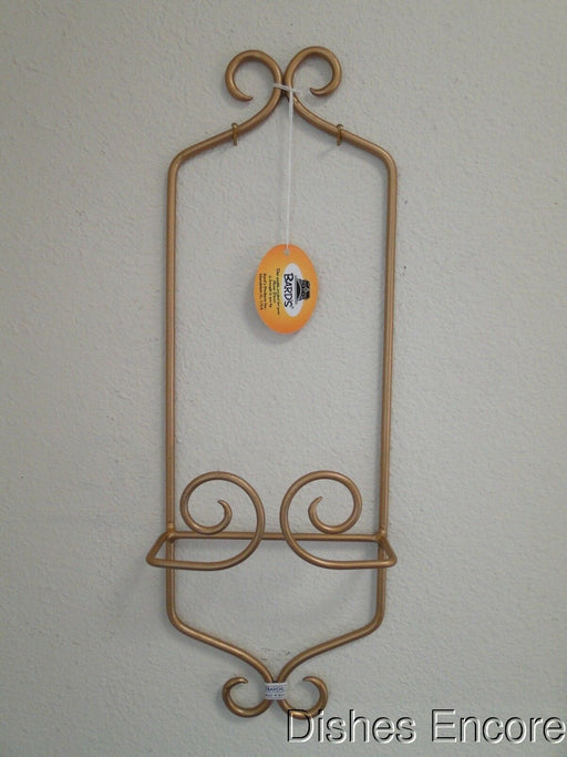 "Bard's Gold Metal Display Rack for One 9 3/4"" - 7 3/4"" Plate, 17"" Tall"