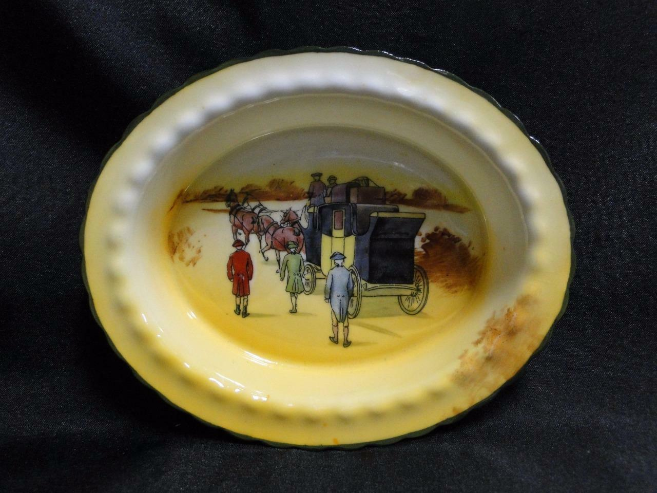 "Royal Doulton Coaching Days, Coach w/ 3 Men Walking: Nut Dish, 5 5/8"", 15c"