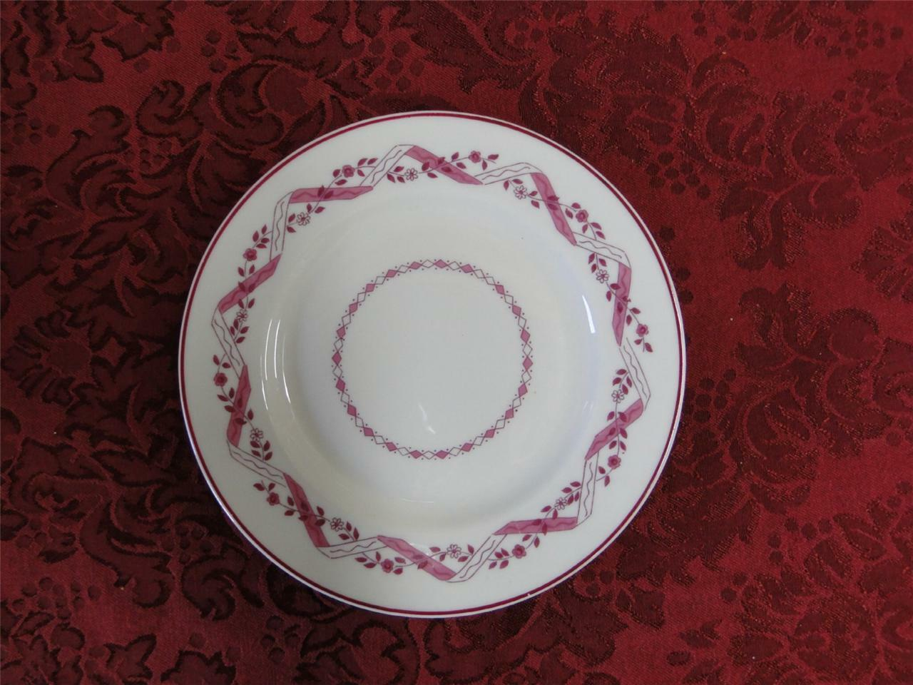 Haviland (New York) Holmsford Cranberry Design and Trim: Bread and Butter Plate (s) 6 1/4""