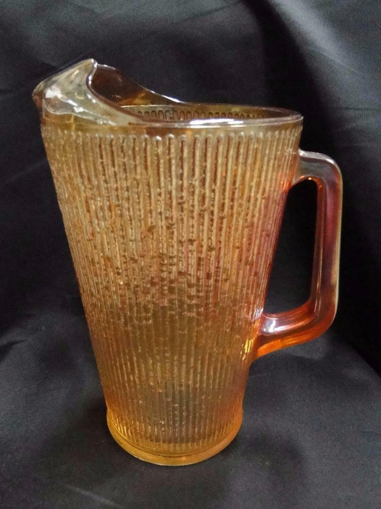 Jeannette Tree Bark Variant, Depression Glass: Pitcher 68 oz., 9 1/8""