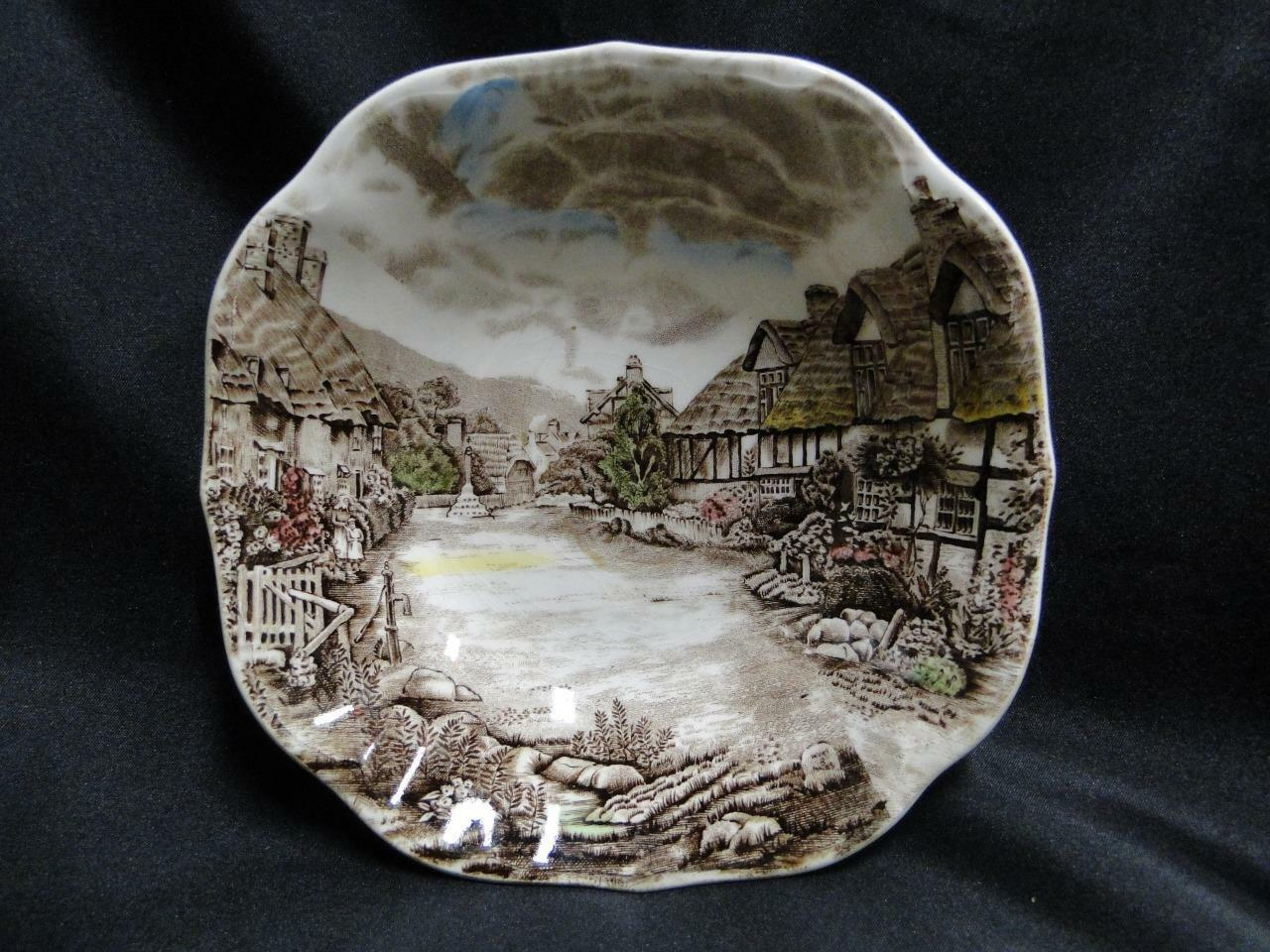 Johnson Brothers Olde English Countryside, Multi-color: Square Soup Bowl AS IS