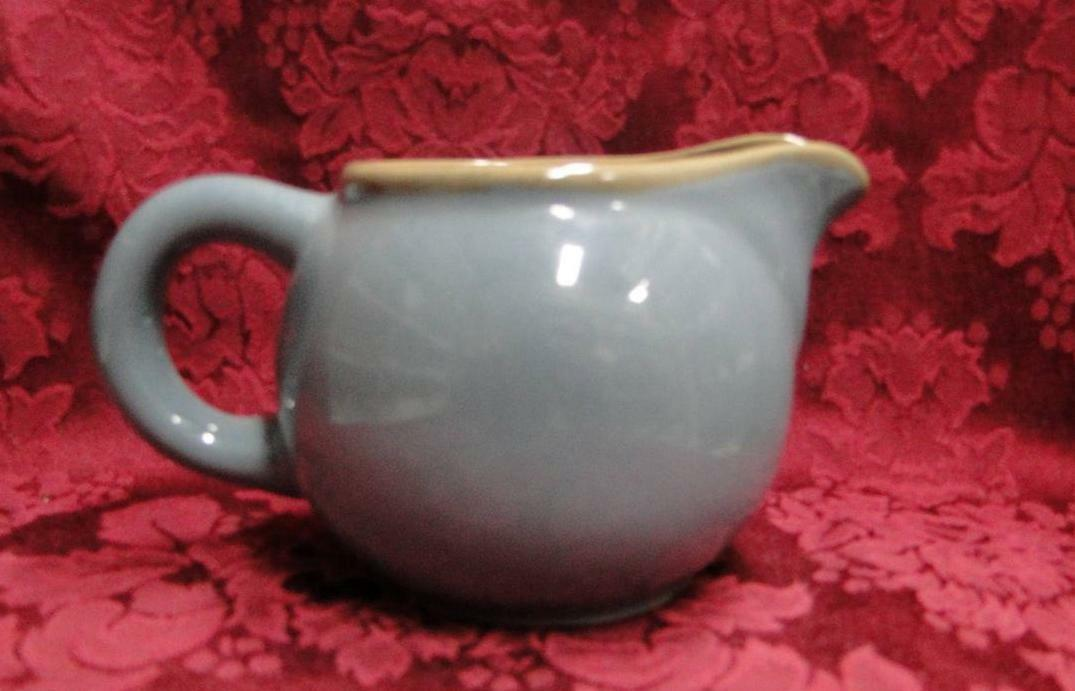 Franciscan Ventura Blue, Blue with Tan Edge: Creamer