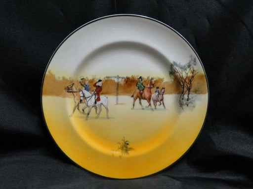 "Royal Doulton Hunting, 4 Horses & Riders Tipping Hats: Salad Plate, 8"", Scene 5a"