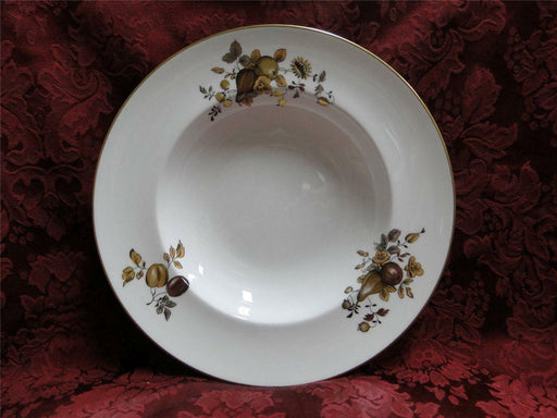 Royal Worcester Golden Harvest, Gold & Brown Fruit, Flowers: Rim Soup Bowl (s)