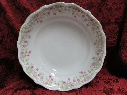 Amcrest Bavaria, Country Garden, Pink /Yellow Roses, Gold: Soup Bowl 7 3/4""