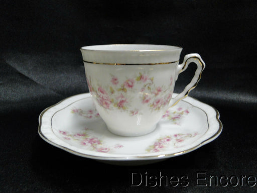 Zeh, Scherzer & Co 508, Pink Rose Garland: Demitasse Cup & Saucer Set (s) 2 1/4""