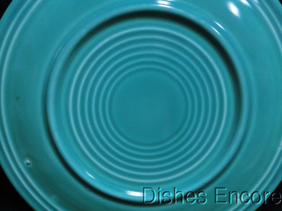 "Fiesta: Light Green Luncheon Plate 9 1/2"" AS IS, No Mark, Smoother Center Rings"