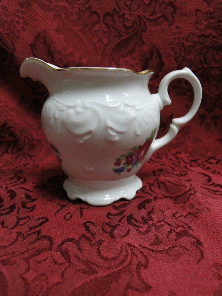Wawel Anastasia, Floral Sprays, Embossed Scrolls: Creamer / Cream Pitcher, 4""