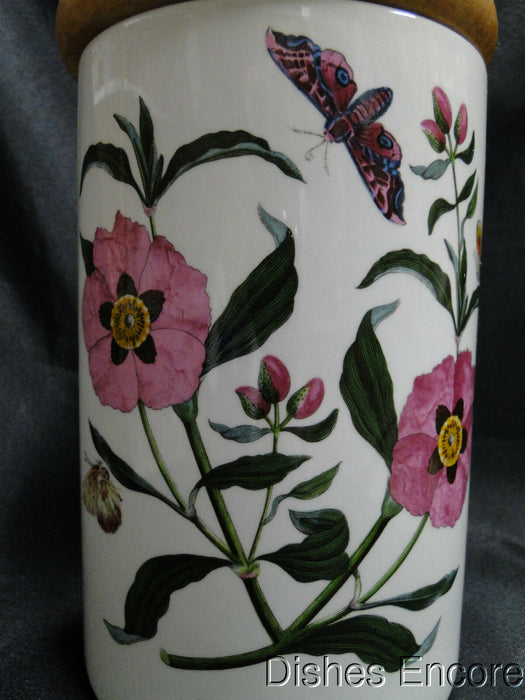 Portmeirion Botanic Garden, England: Purple Rock Rose Canister w/ Lid, 7 1/8""