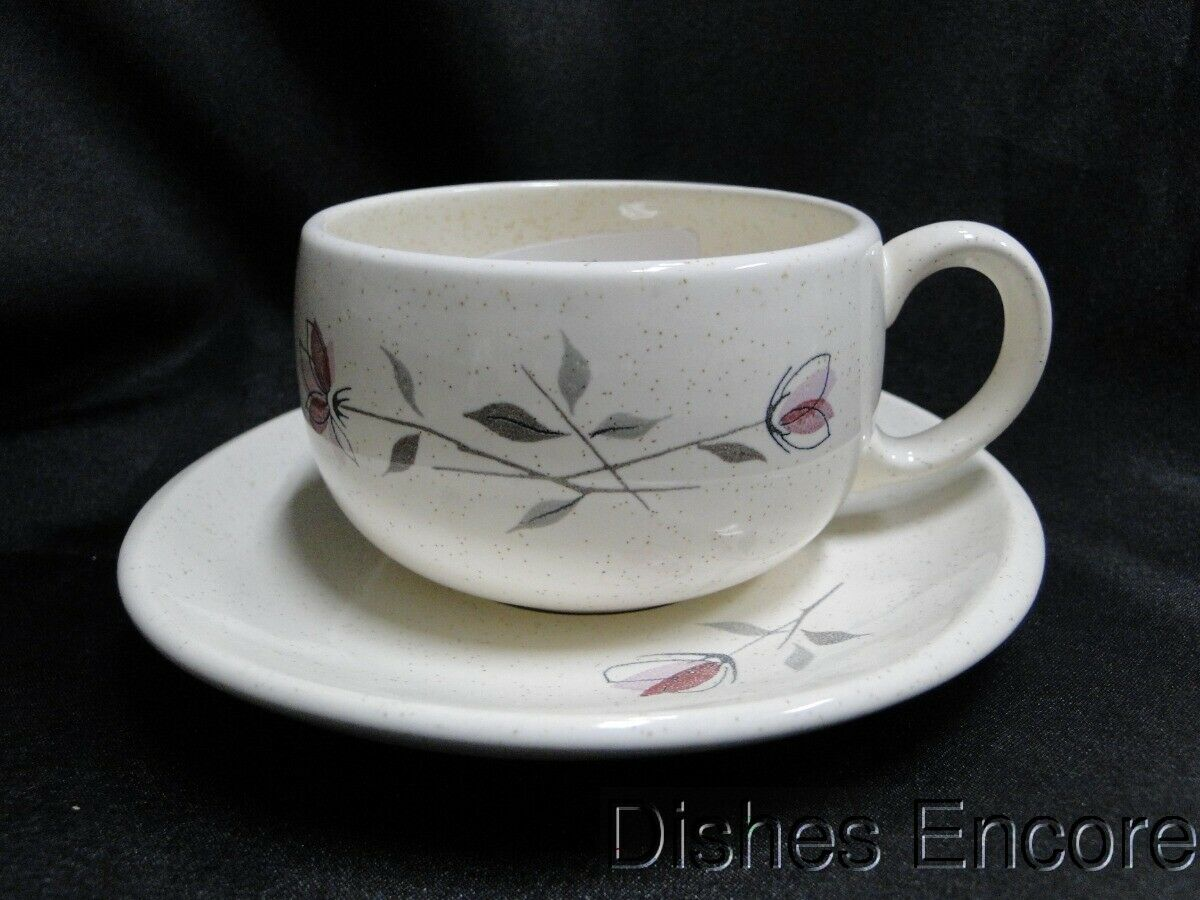 Franciscan Duet, Pink Flowers: Cup and Saucer Set AS IS