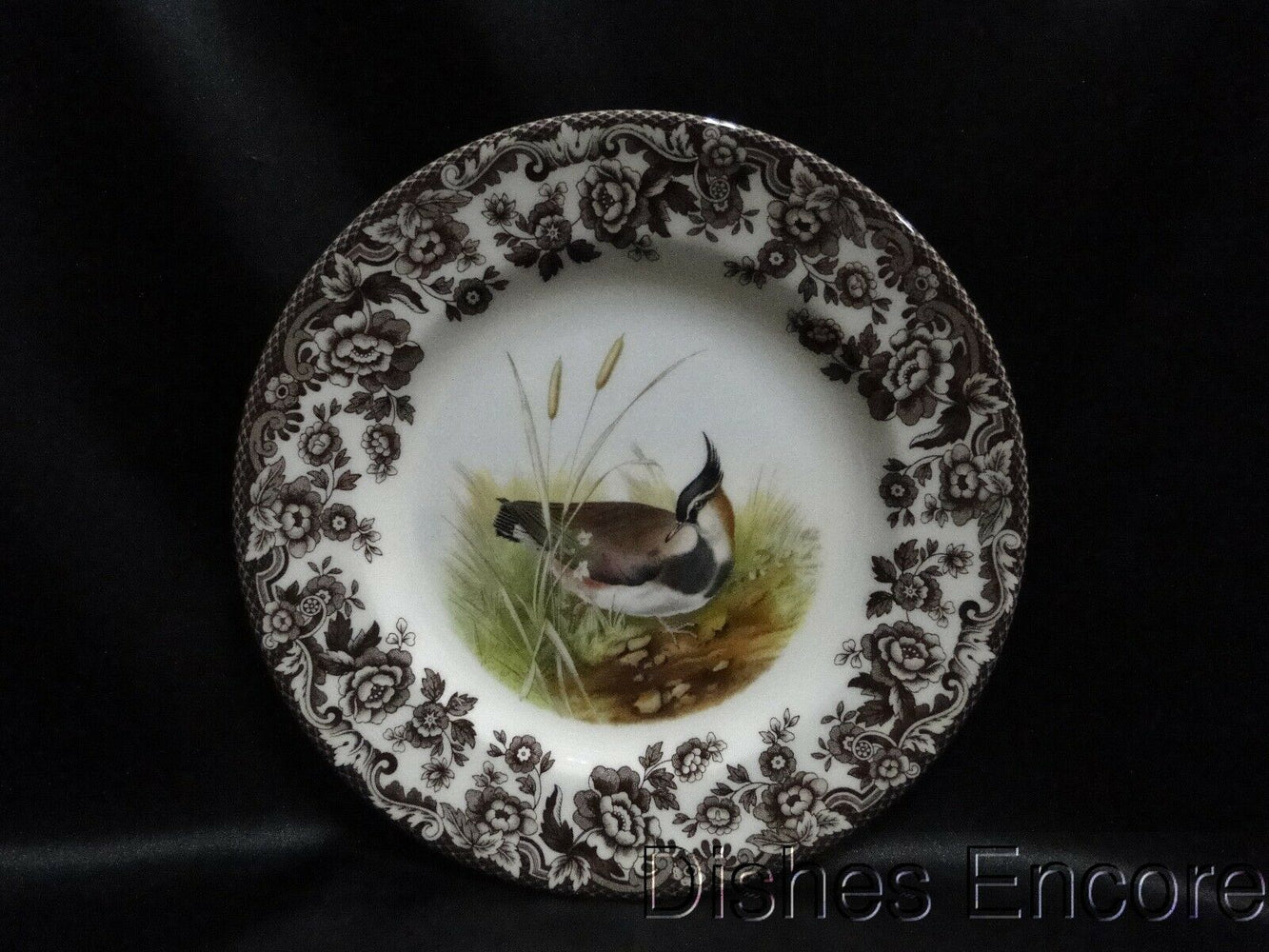 "Spode Woodland Lapwing Game Bird, England: NEW Salad Plate (s), 7 3/4"", Box"