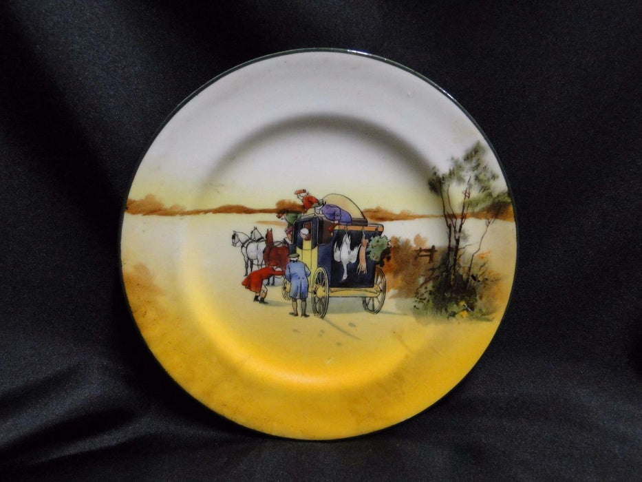 "Royal Doulton Coaching Days, Coach w/ Hanging Animals: Bread Plate, 6 7/8"", 9a"