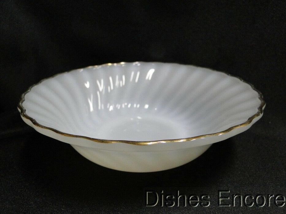 Anchor Hocking Swirl Golden Shell Milk Glass w/Gold: Cereal Bowl (s) 6 3/8""
