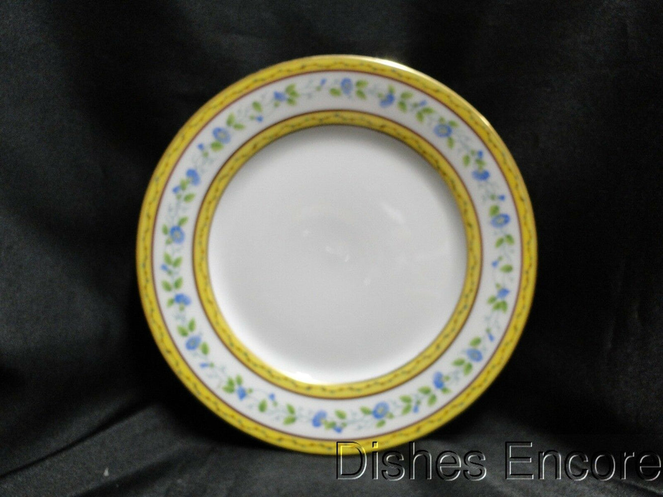 Raynaud Ceralene Morning Glory Ring, Yellow Bands: Salad Plate, 7 5/8""