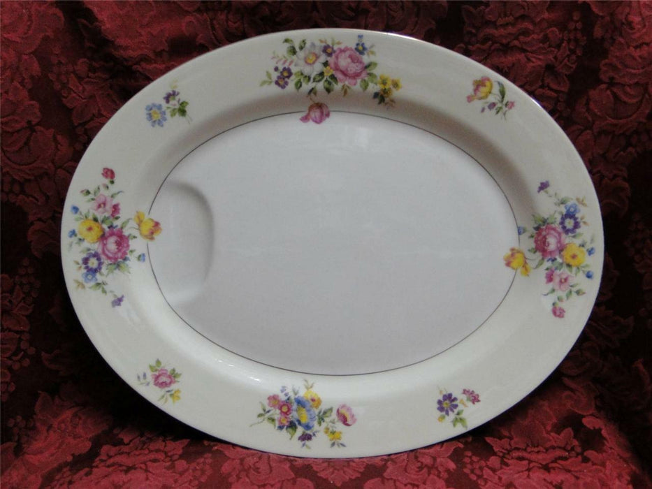 "Haviland (New York) Pasadena, Floral Sprays: Platter 13 7/8"" x 11"""