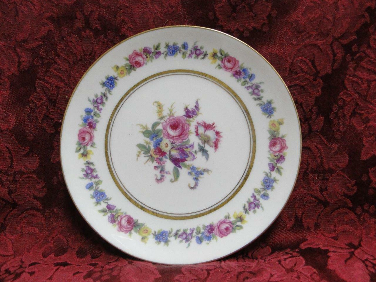 Castleton Manor, Multifloral Band, Center,Gold:Cream Soup Saucer (s) Only 7 1/8""