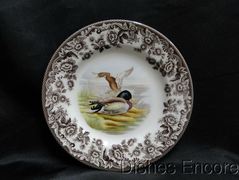 "Spode Woodland Mallard Duck, England: NEW Salad Plate (s), 7 3/4"", Box"