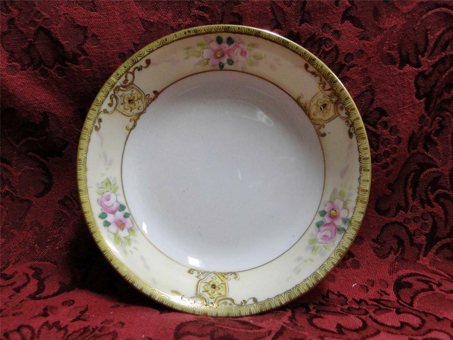 "Noritake Pink Florals w/ Raised Gold: Fruit Bowl (s), 5 3/8"" x 1 1/8"""