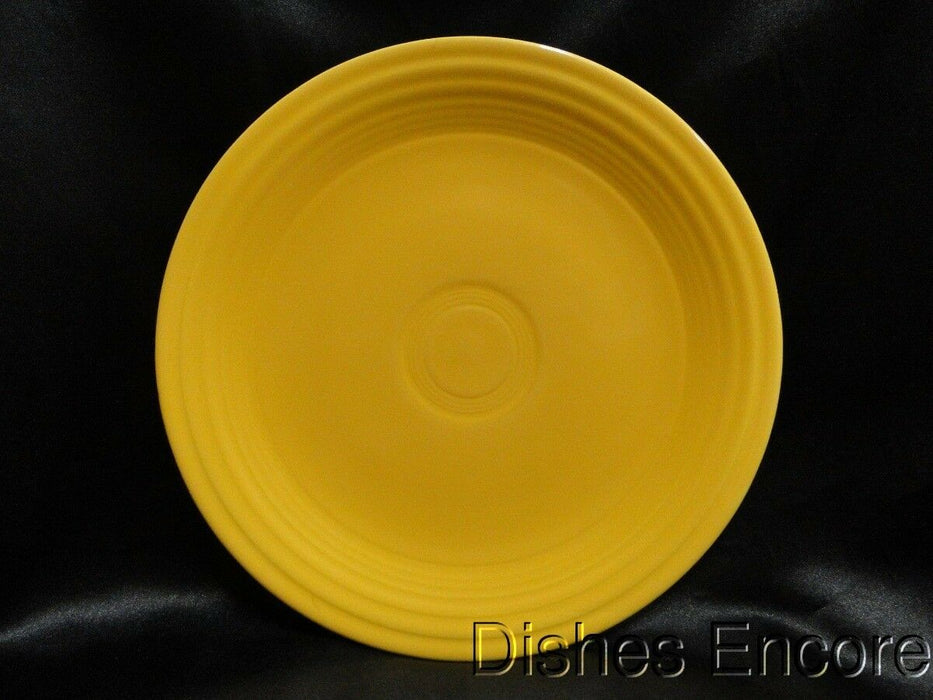 Homer Laughlin Fiesta (Old): Yellow Luncheon Plate AS IS, Chip, 9.5""