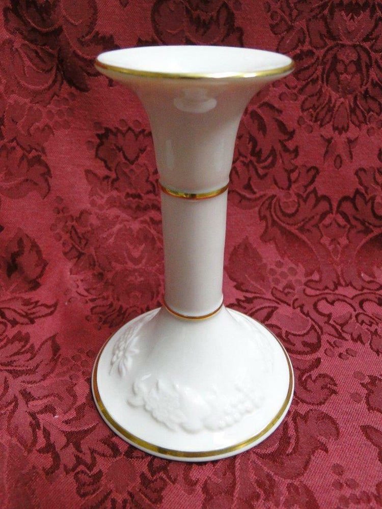 Lenox Fruits of Life, Ivory Embossed Fruit: Candlestick (s) 5 3/8""