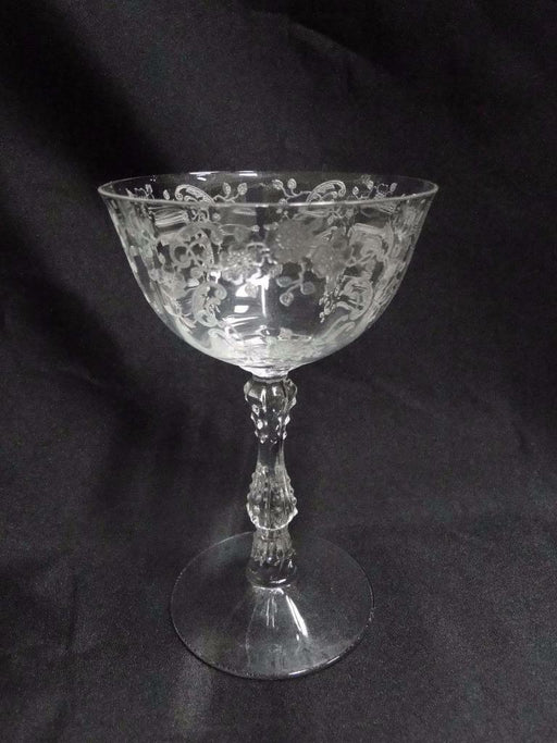 Fostoria Meadow Rose Clear: Champagne / Tall Sherbet 5 5/8""
