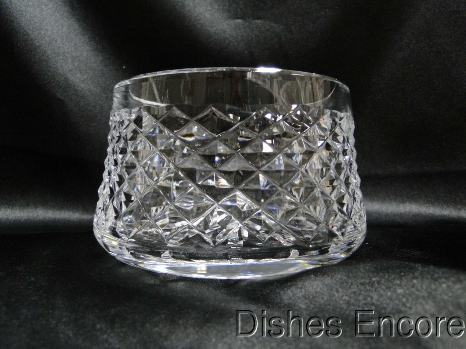 "Waterford Crystal Alana, Cut Cross Hatch: Open Sugar Bowl, 3 1/2"" x 2 1/2"" Tall"