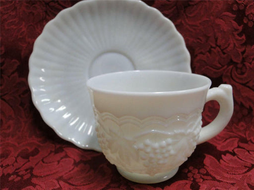 Imperial Glass Vintage Grape Milk Glass: Cup and Saucer Set (s)