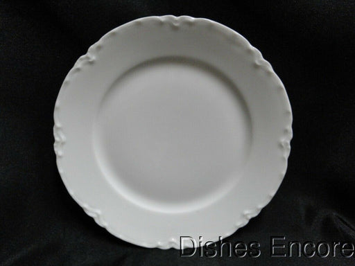 Haviland Ranson, France, White Scalloped: Bread Plate, w/Rim 6""