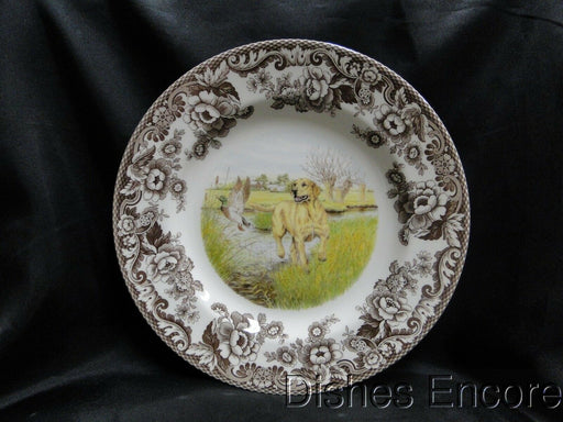 "Spode Woodland Yellow Labrador Hunting Dog: NEW Dinner Plate (s) 10 3/4"", Box"