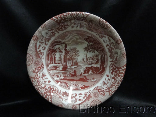 Spode Italian, Cranberry / Red Scene: NEW Ascot Cereal / Soup Bowl (s), 8 1/8""