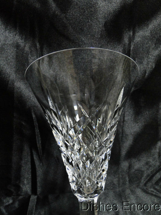 Waterford Crystal Ashbourne, Flared, Criss Cross Water or Wine Goblet 8 1/4""