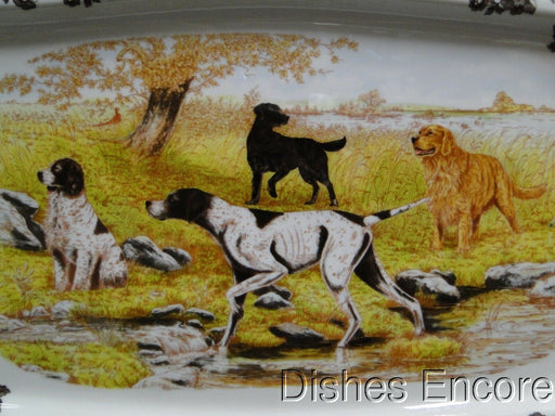 "Spode Woodland Hunting Dogs: NEW Rectangular Platter (s), 17 1/2"", Box"