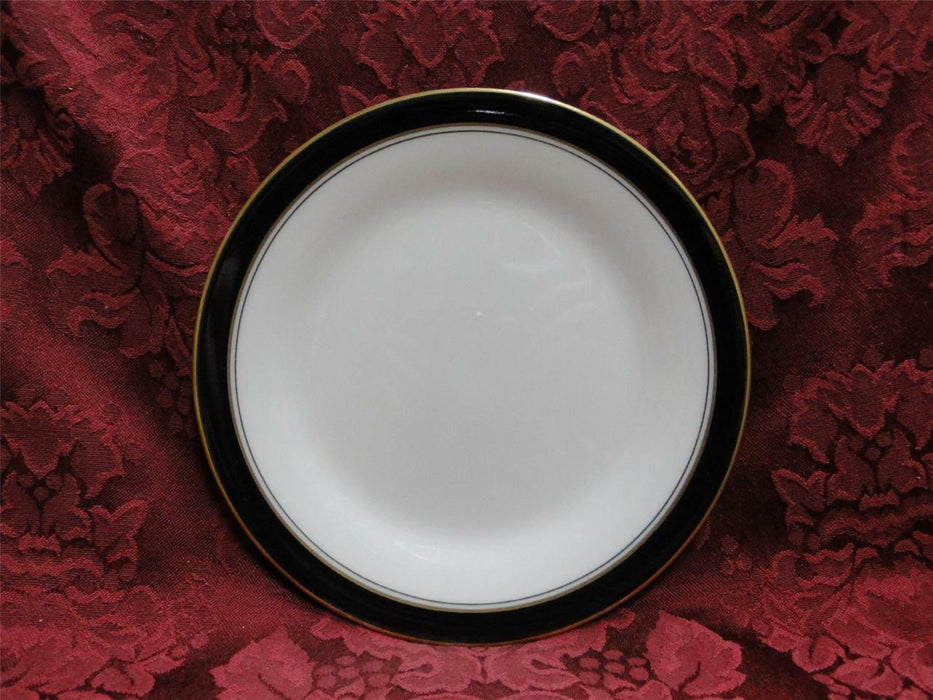 Noritake Ivory & Ebony, 7274, Black Band w/ Gold: Bread Plate (s), 6 1/2""