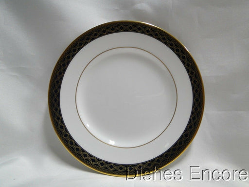 Waterford Powerscourt, White w/ Blue & Gold Border: Bread Plate (s), 6""