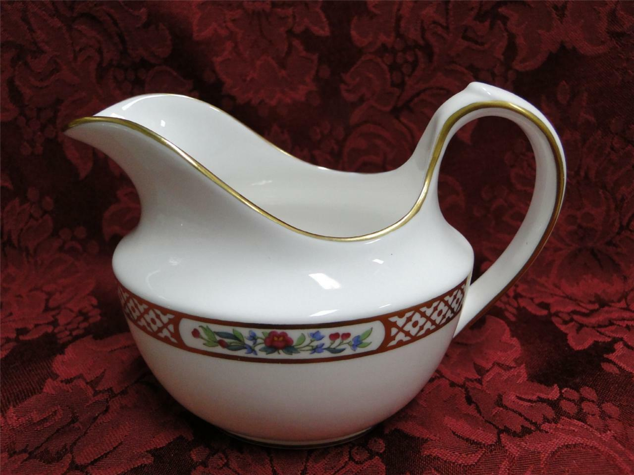 Spode Golden Trellis Y8405, Flowers, Gold Lattice: Creamer / Cream Pitcher
