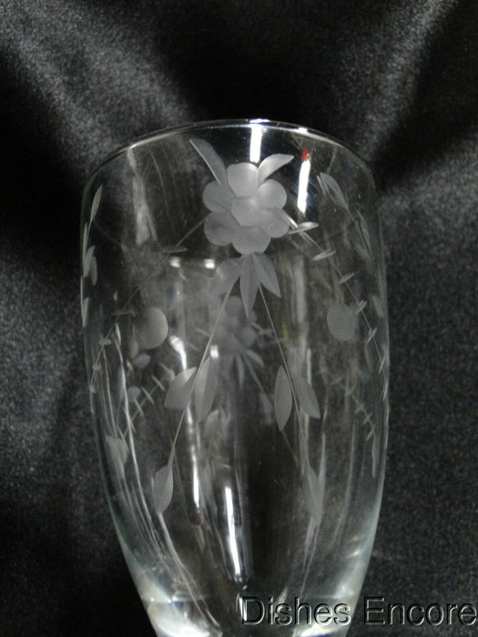 "Clear with Etched Floral, Ball Stem: Iced Tea (s), 6 5/8"" Tall - CR#031"