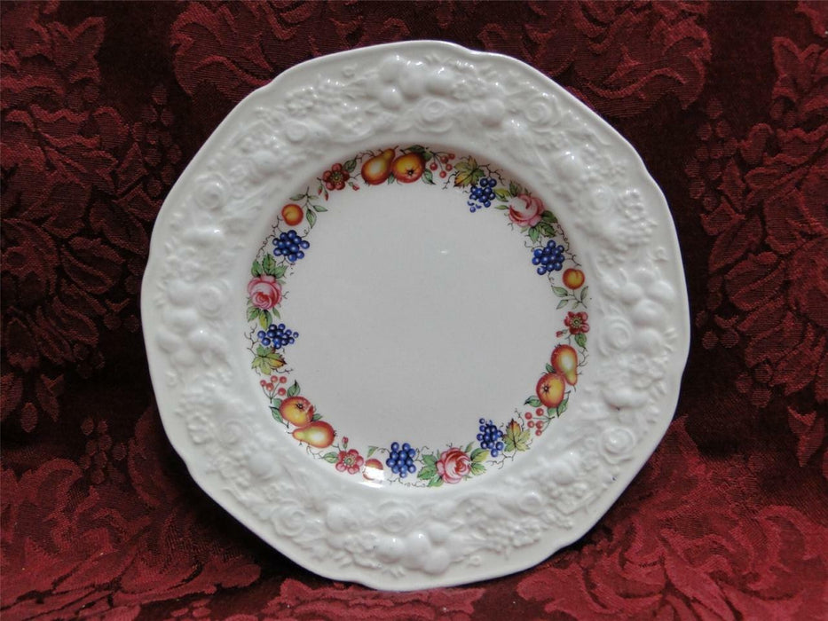 Crown Ducal Florentine Garden, Fruit (Crazing): Salad Plate (s) 8""