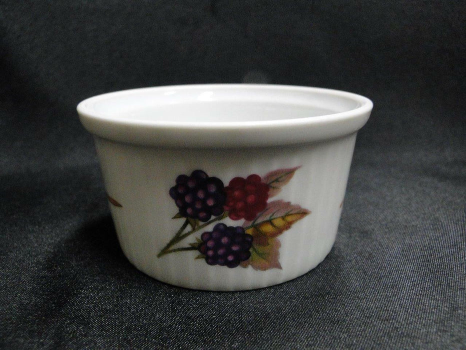 "Royal Worcester Evesham ""M"", No Trim, Microwave Safe, Fruit: Ramekin (s), 3 1/4"""