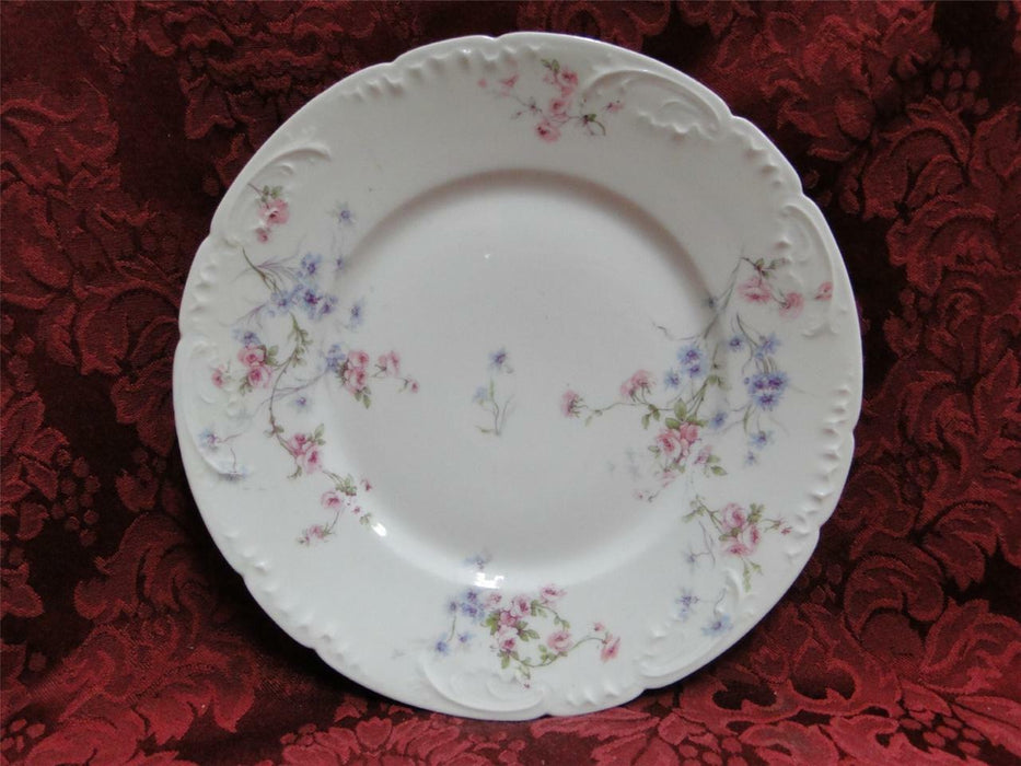 Haviland (Limoges) Schleiger 309 Various Pink/Blue Flowers: Salad Plate (s)
