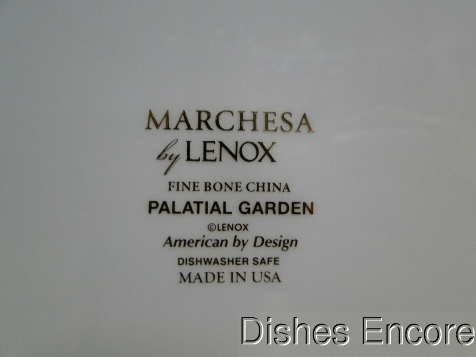 Lenox Palatial Garden, Marchesa, White w/Brown, Blue: Dinner Plate (s), 11""