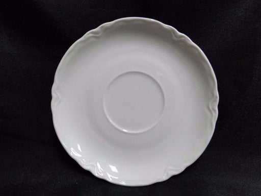 "Hutschenreuther Racine, White: Saucer (s) Only, "" LHS"" Backstamp, 5 1/2"""