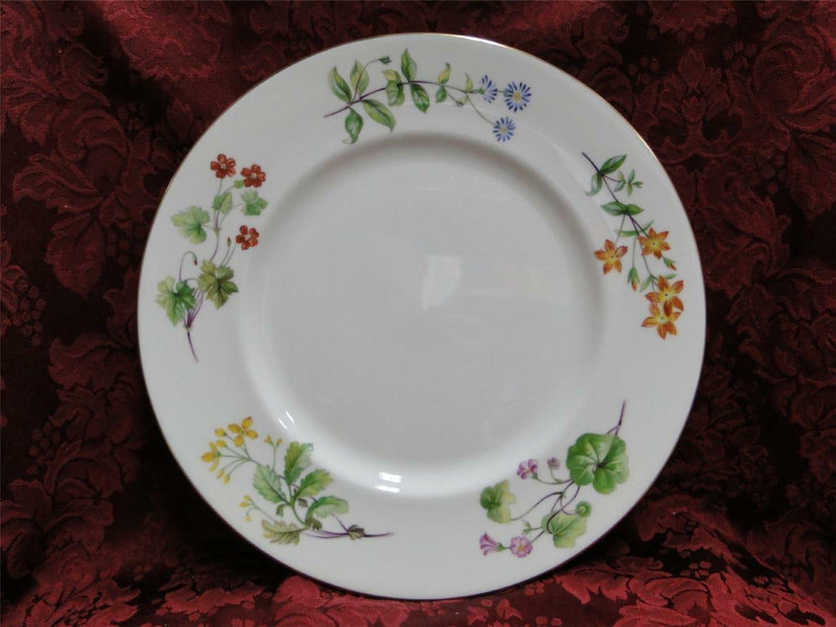 Minton Meadow Smooth, Floral with Gold Trim: Dinner Plate (s) 10 1/2""