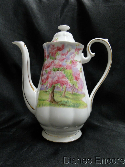 Royal Albert Blossom Time, Pink Flowering Trees: Coffee Pot w/ Lid, 9 1/2""
