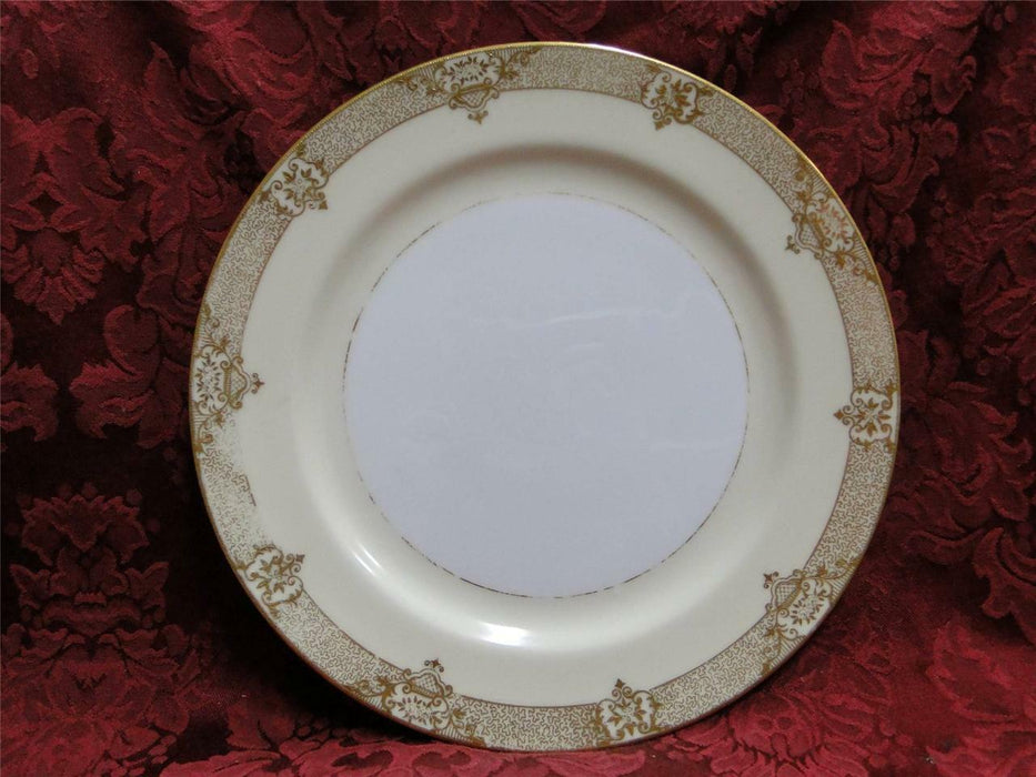 Noritake Marcisite, 87196, Gold Flowers, Cream Band: Dinner Plate (s), 9 7/8""