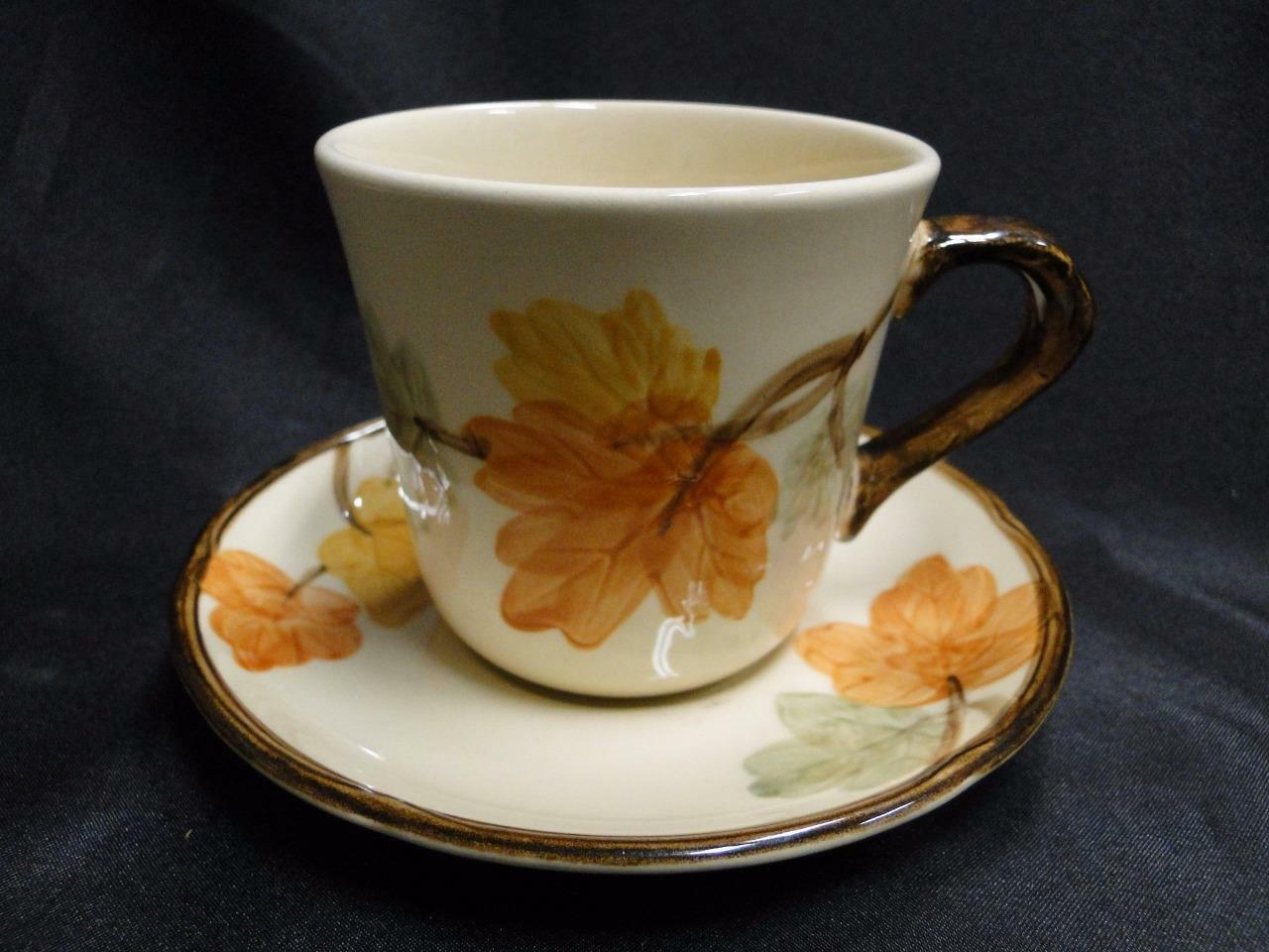 Franciscan October (USA), Fall Leaves: Cup and Saucer Set (s) 3 1/4""