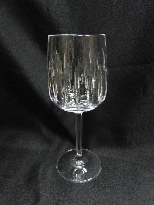 Crystal Guild Clear with Two Rows of Vertical Cuts: Wine Goblet (s) 7""