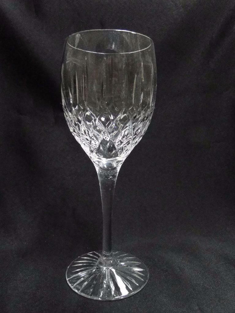 "Royal Doulton Hampstead, Vertical & Criss Cross Cuts: Wine, 7 1/2"" Tall, As Is"